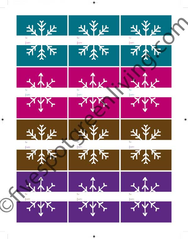 Merry and Bright Holiday Labels
