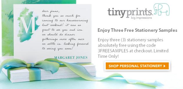 Tiny Prints Three Free Offer