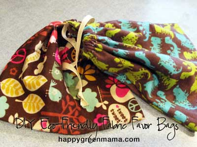 DIY Eco-Friendly Fabric Favor Bags