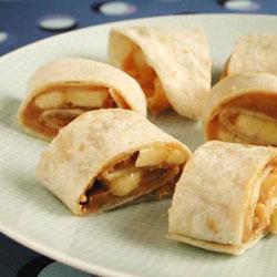 Banana Peanut Butter Rollup