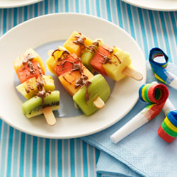 Fruit Kabobs with Popsicle Sticks
