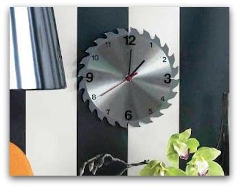 Fathers Day DIY Saw Blade Clock