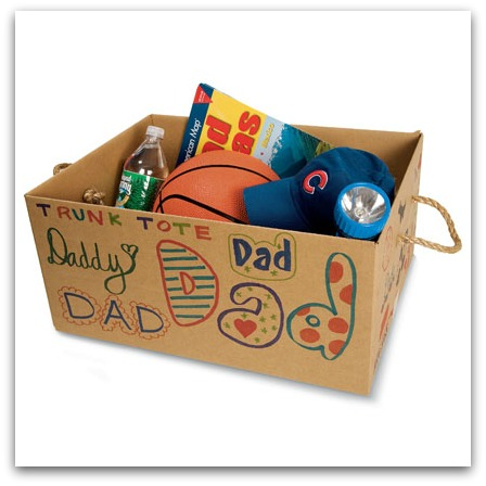 Fathers Day DIY Trunk Tote Gift