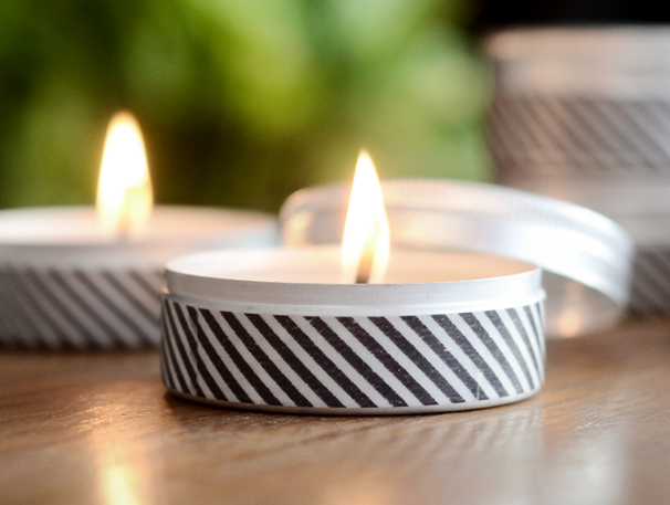 Homemade Gifts: DIY Washi Tape Candles