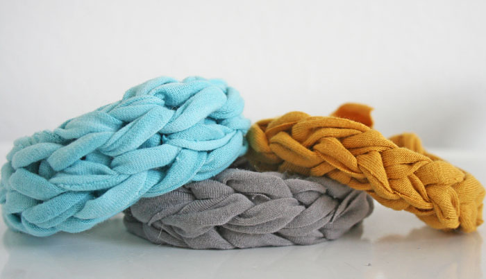 Homemade Gifts: Handmade Jersey Knit Bracelets