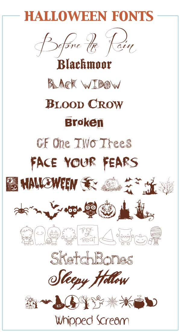 FREE Halloween Fonts for Crafts and Projects - Five Spot Green Living