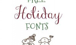 Free Font Downloads - Holiday Fonts