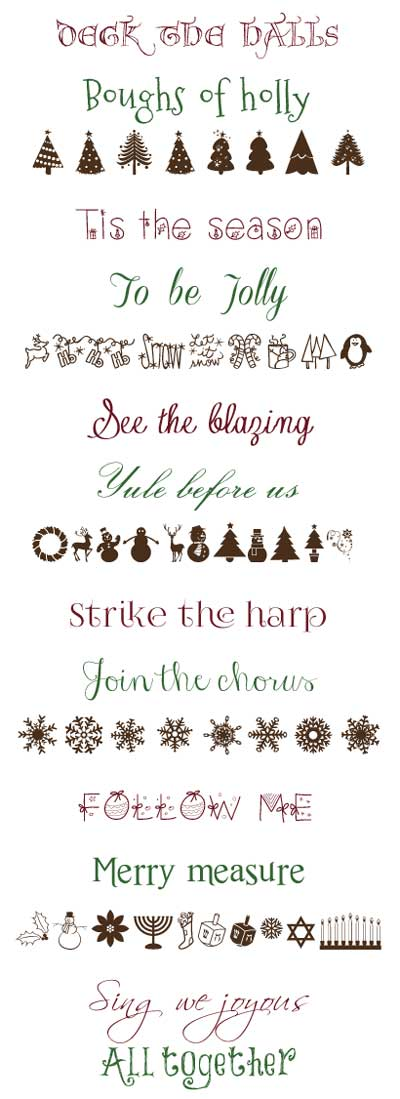 Free Font Downloads for Winter, Christmas and Hanukkah Projects