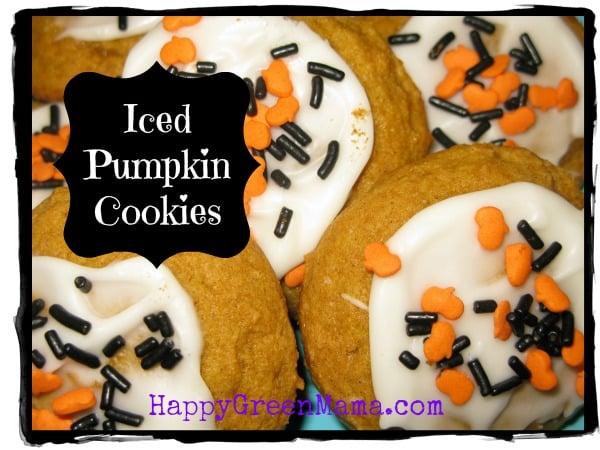 Harvest Iced Pumpkin Cookies