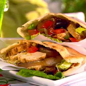 Grilled Chicken Pitas Courtesy of Paula Deen, Food Network