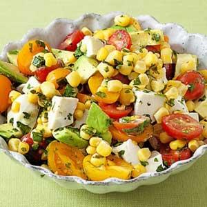 Corn, Tomato and Avocado Salad Courtesy of Aida Mollenkamp