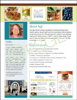 Media Kit 2014 for Five Spot Green Living