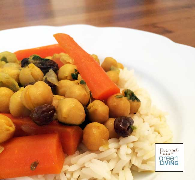 Easy Moroccan Food: Healthy Vegetarian Chickpea Carrot Stew
