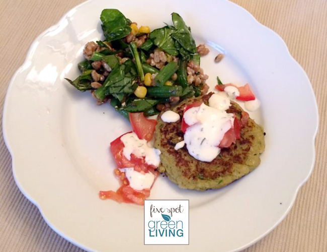Zucchini Veggie Burger Recipe: Healthy Meal Planning Week of May 12