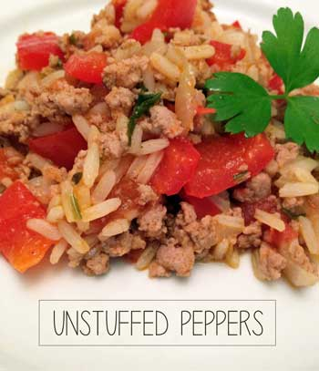 Quick and Easy UnStuffed Pepper Casserole