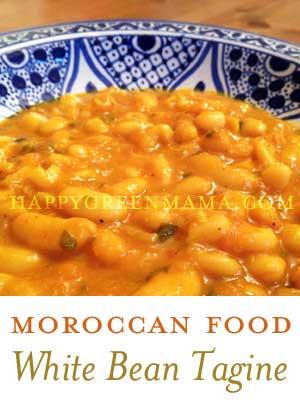 Moroccan Food: White Bean Tagine - HappyGreenMama.com