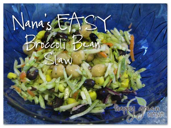 Broccoli Bean Slaw Salad