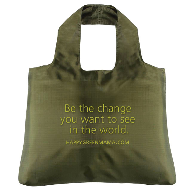Gandhi Be the Change Reusable Bag