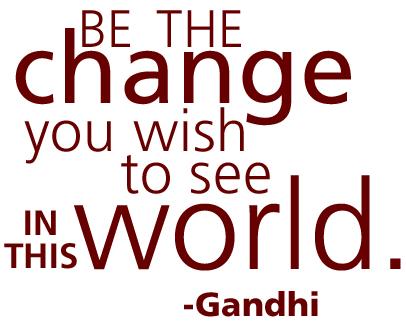 Custom Water Bottle Gandhi Quote