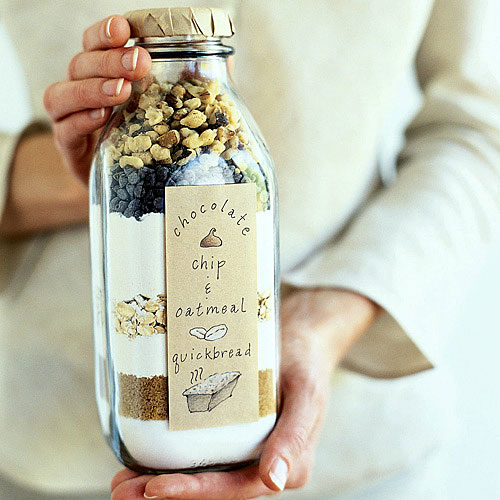 Chocolate Chip Oatmeal Bread in Jar
