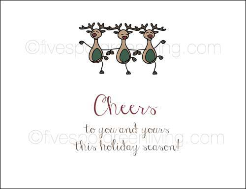 eco-friendly holiday notes reindeer