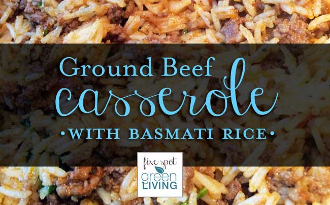 Ground Beef Casserole with Basmati Rice in the Ozeri Green Earth Non-Stick Frying Pan