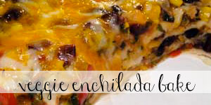 Easy Vegetarian Enchilada Bake