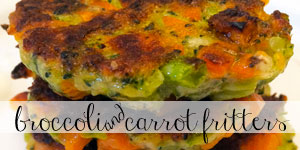 Broccoli Carrot Fritters