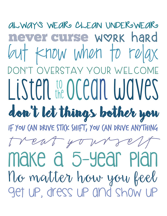 Top Rules to Live By My Mother Always Repeated