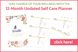 undated self care planner
