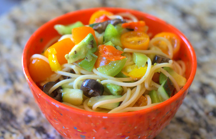 CaliSpaghettiSalad 30 Healthy Appetizers for Summer BBQs and July 4th