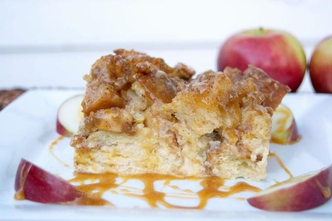 Caramel Apple French Toast Bake - Christmas Breakfast Ideas