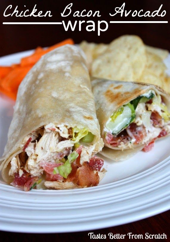 Picnic Food Ideas for Summer Fun - Chicken Bacon Avocado Wrap