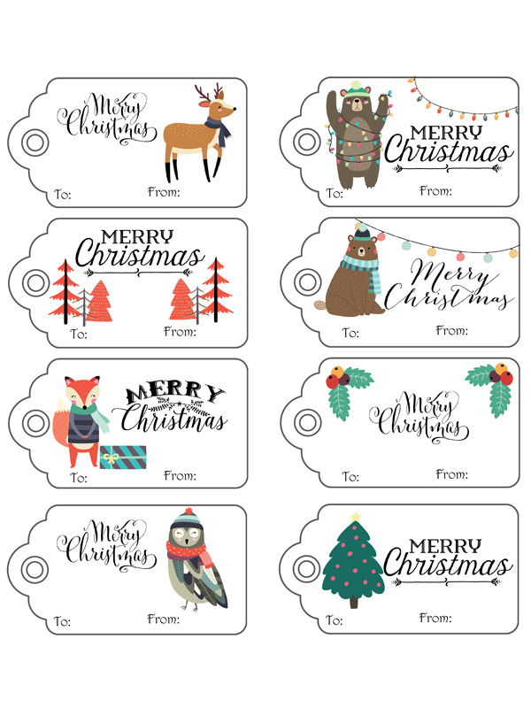 Adorable Woodland Christmas Gift Tags / Life Over Cs