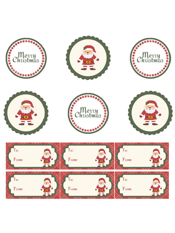 image about Printable Santa Gift Tags known as In excess of 35 Absolutely free Printable Xmas Reward Tags - 5 Vacation spot Environmentally friendly