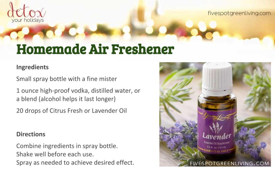 Homemade Aromatherapy Spray - Detox Your Holidays Homemade Gifts