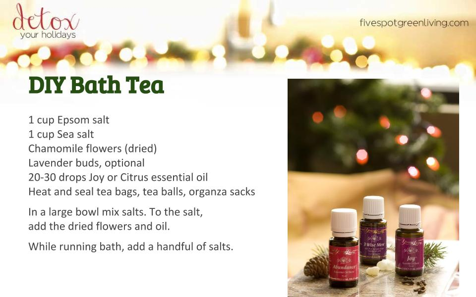 Homemade Bath Tea - Detox Your Holidays Homemade Gifts