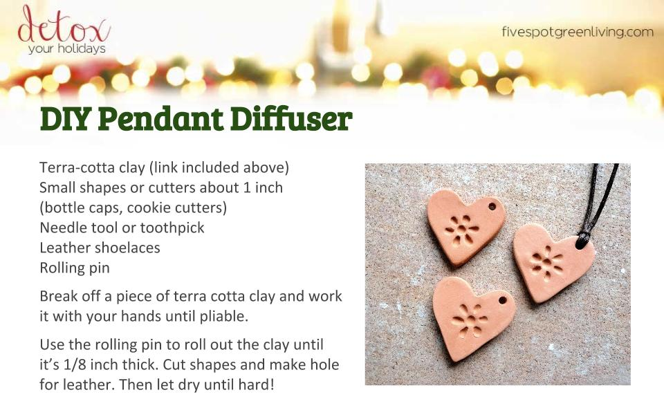 DIY Pendant Diffuser - Detox Your Holidays Homemade Gifts