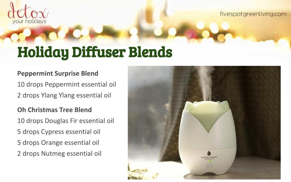 Holiday Diffuser Blends - Detox Your Holidays Homemade Gifts