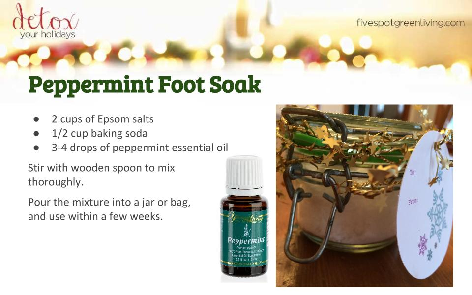 Peppermint Foot Soak - Detox Your Holidays Homemade Gifts