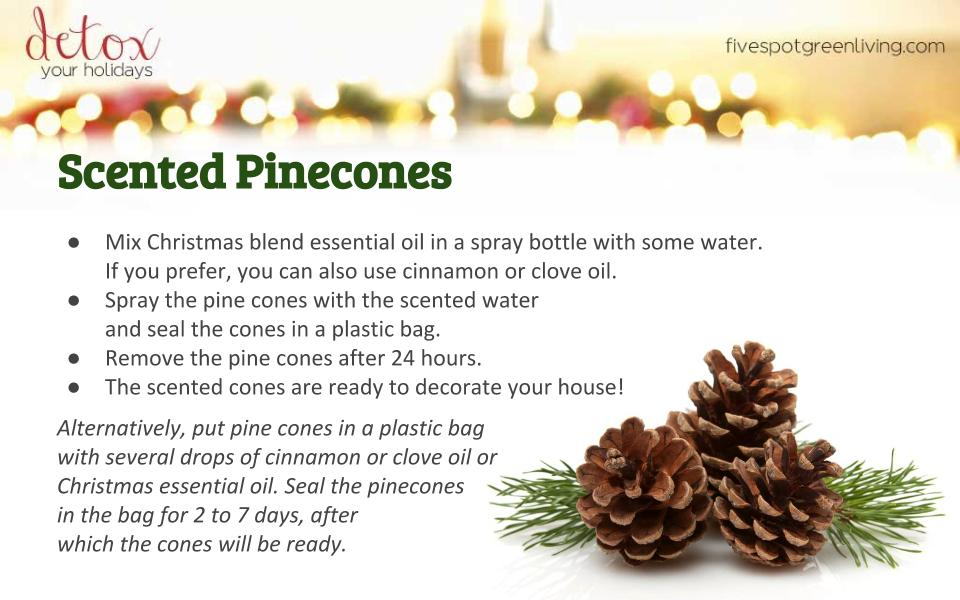 Scented Pinecones Decoration - Detox Your Holidays Homemade Gifts