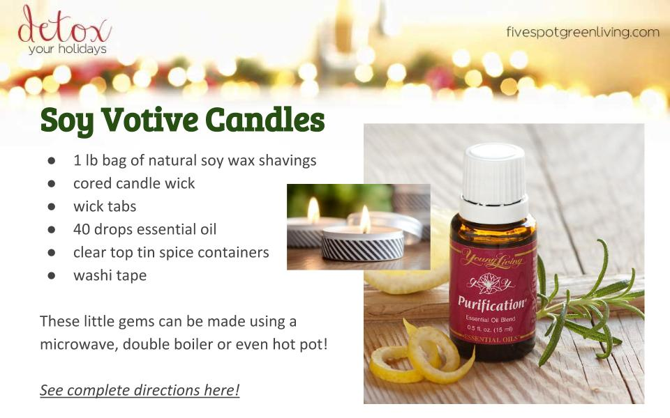 Homemade Soy Votive Candles Gift - Detox Your Holidays Homemade Gifts
