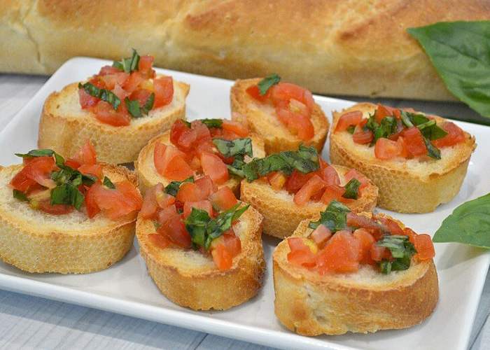 Easy-Bruschetta 30 Healthy Appetizers for Summer BBQs and July 4th