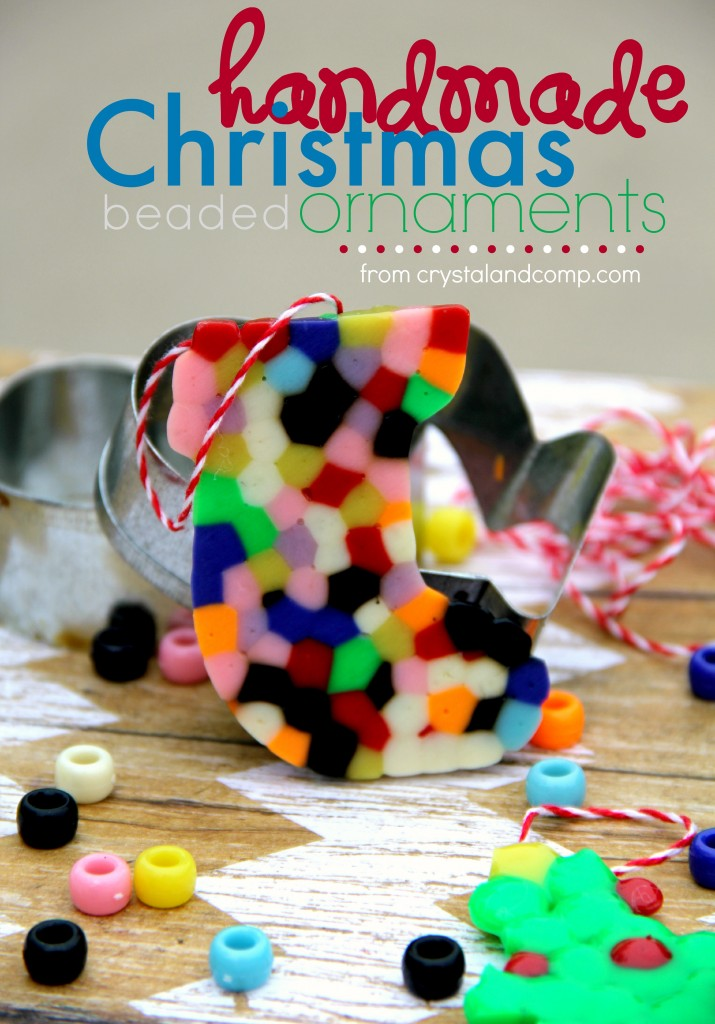 Handmade Beaded Christmas Ornaments / Christmas Activities for Kids Plus Free Printable Calendar