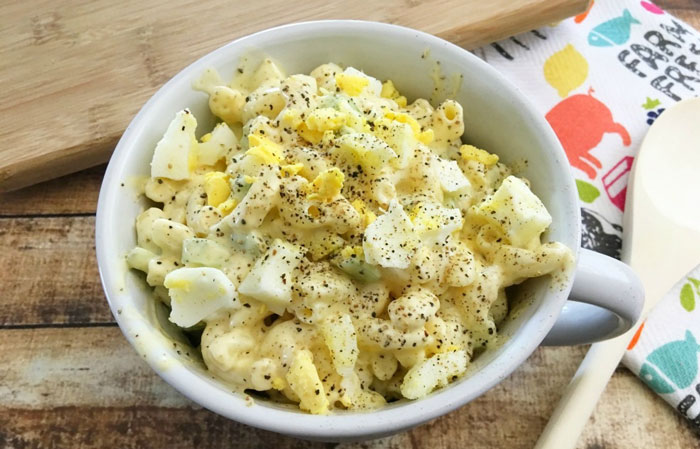 Macaroni-Egg-Salad-dancing 30 Healthy Appetizers for Summer BBQs and July 4th