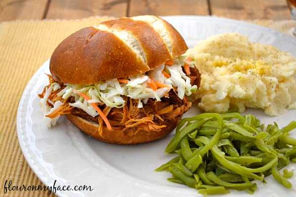 Raspberry-Chipotle-Pulled-Chicken-Sandwich Healthy Meal Plan Volume 13