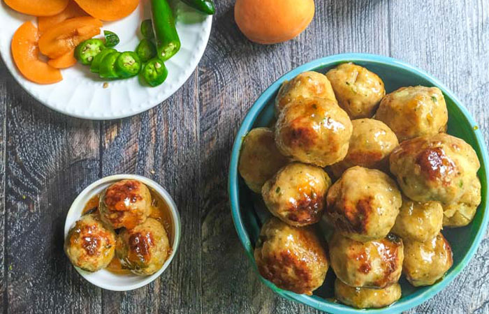 Spicy Apricot Chicken Meatballs