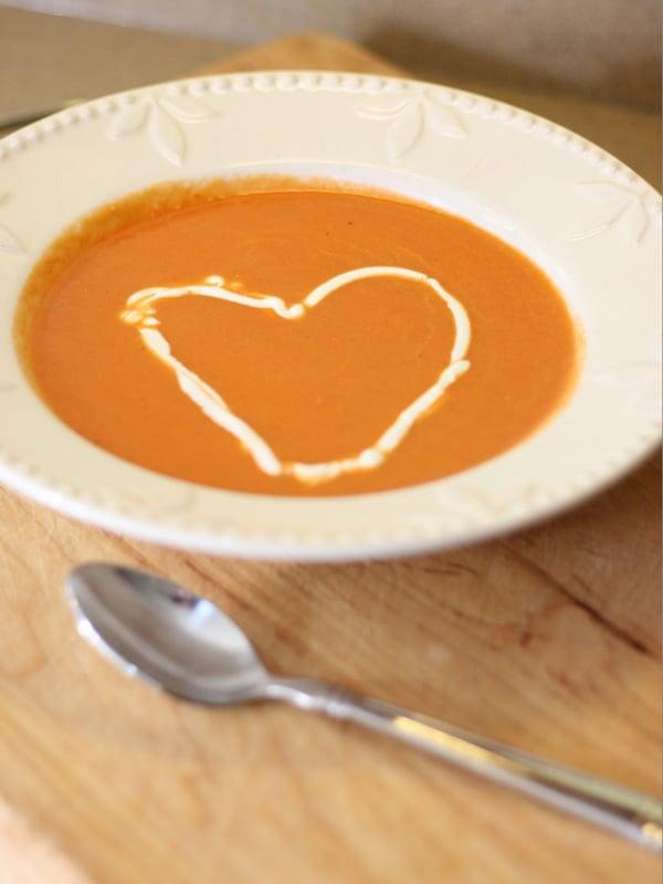 Valentine Dinner Tomato Soup