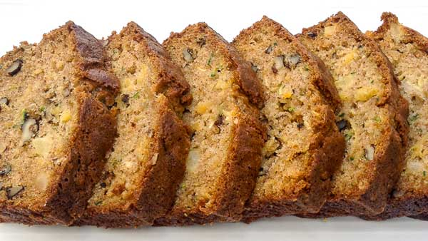 Zucchini Pineapple Bread - Homemade Bread Recipes