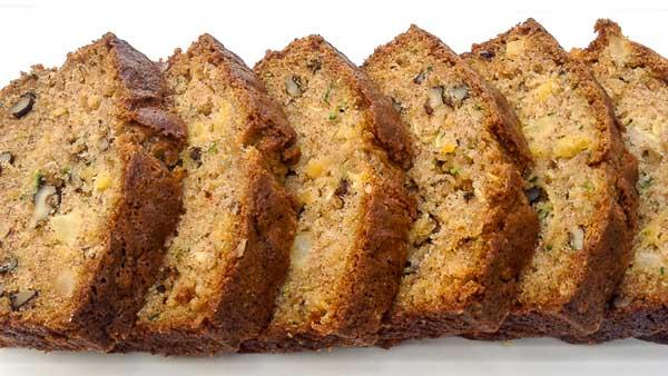 Zucchini Pineapple Bread - Homemade Bread Recipes